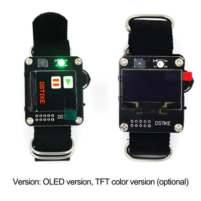 DSTIKE Watch DevKit Wearable ESP32 Development Board with Wristband TFT and OLED Version Optional DIY Tool