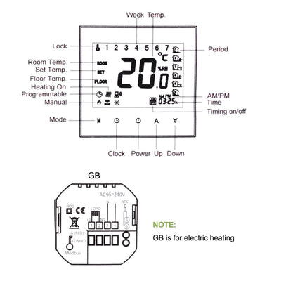 Digital Underfloor Heating Thermostat for Electric Heating System Floor Air Sensor WiFi home Room Temperature Controller - Mirage Novelty World