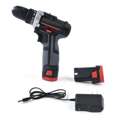 12V Double Speed Cordless Rechargeable Electric Drill Lithium Battery Powered Electric Hand Drill with 2pcs Batteries - Mirage Novelty World