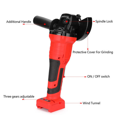 780W 125mm Brushless Cordless Impact Electric Angle Grinder Variable Speed DIY Power Tool Cutting Machine Polisher for Polishing - Mirage Novelty World