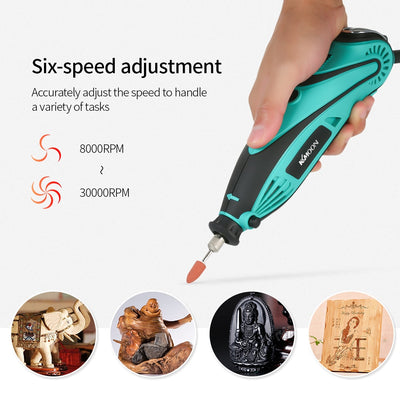 120pcs Electric Mini Drill Power Tools Rotary Grinder Polishing Grinding Tool Set with 6 Position Variable Speed - Mirage Novelty World