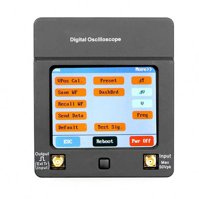 DSO112A Mini Digital Oscilloscope Portable Multimeter Tester 2MHz 5Msps TFT Color Display Touch Screen with Battery - Mirage Novelty World