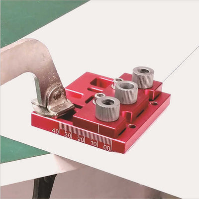 3 in 1 Aluminum Alloy Hole Puncher Woodworking Triple Punch Retainer Wood Puncher Drill Bit Drilling Guide Tools - Mirage Novelty World
