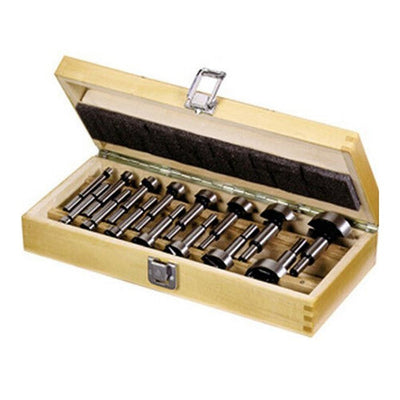 15pcs Wood Drill Bit Set Woodworking Self Centering Hole Saw Cutter Power Tools Accessories with Storage Box - Mirage Novelty World
