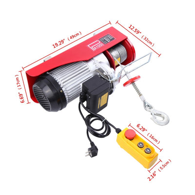 500-1000KG Electric Winch Hoist electric wire rope hoist crane equipment lifting tool