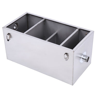 25LB Commercial 13GPM Gallon Per Minute Stainless Steel Grease Trap Interceptor