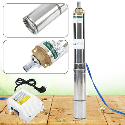 4000L/h Deep Well Pump Submersible Pump Stainless Steel Tube Pump 6.7bar 0.75KW For Outdoor Garden Home Pumping Machine