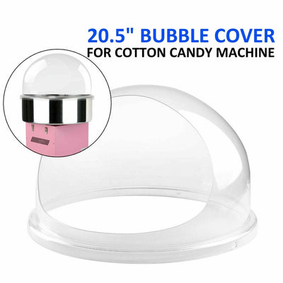 20.5 inch Commercial Bubble Candy Machine Dome Cotton Candy Bowl Cover