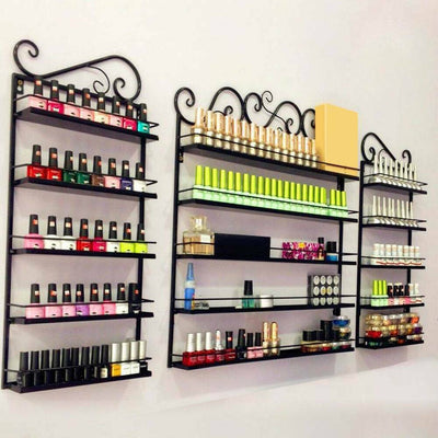 5 Tiers Metal Nails Polish Display Organizer Beauty Shop Commercial Wall Rack Holder