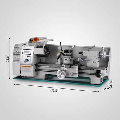Mini Metal Lathe 750W 8x16 Inch Metal Processing Variable Speed Lathe Metal Lathe Mini Lathe Shipping From EU warehouse