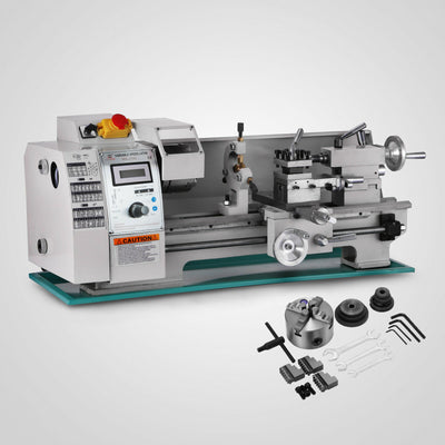 Mini Lathe Metal 8x16 Inch Metal Lathe 750W Variable Spindle Speed Lathe Machine