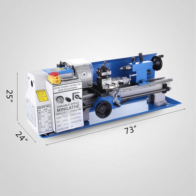 Mini Lathe Machine 14 Inch 550W Lathe Digital Milling Variable Speed