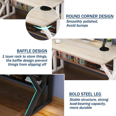 Laptop Desk Folding Wooden Computer Desk Portable for Home Office Modern Simple Writing Table PC Desk Study Table Furniture - Mirage Novelty World