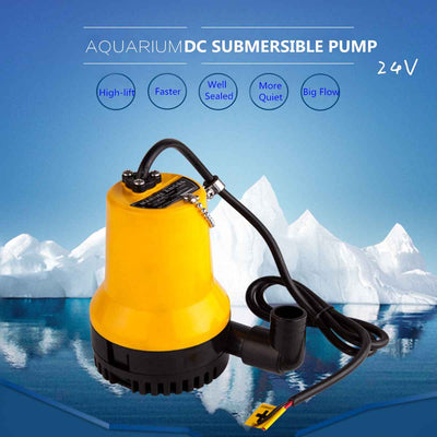 Submersible Water Pump Aquarium Fish Pond Tank Bottom Suction Spout Control Clean Water Change Filter Manure Suction Pump 50W - Mirage Novelty World