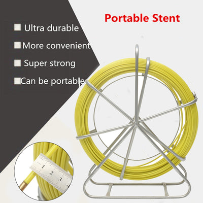 100M Cable Puller Fish Tape Fiberglass Electric Cable Guide Wire Rope Flywheel Puller Metal Wall Wire Conduit 6mm Diameter 4.6T - Mirage Novelty World