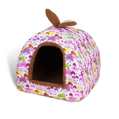 Fleece Soft Pet Yurt Home Kennel House For Dog Cat Small Animals With Mat Chihuahua - Mirage Novelty World