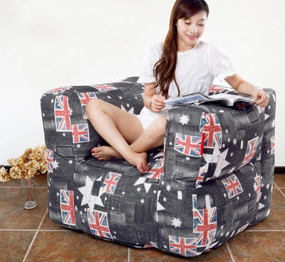 STOOL Living room bean bag armchair, adults beanbag sofa lounger - Mirage Novelty World