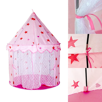 Princess Castle Portable Indoor Outdoor Playhouse Tent - Mirage Novelty World