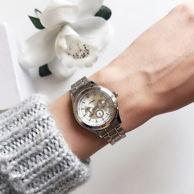Women Watch Elegant Brand Famous Luxury Silver Quartz Watches Ladies Steel Geneva Wristwatches - Mirage Novelty World