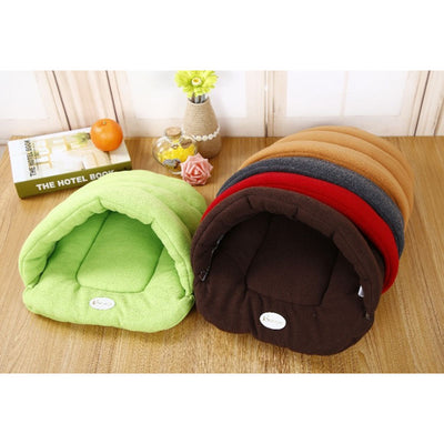 Small Dog Puppy Kennel Sofa Bed Polar Fleece Material - Mirage Novelty World