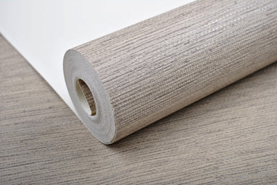 Modern Plain Rustic Textured Wallpaper Horizontal Faux Grasscloth Washable Vinyl Wall Paper - Mirage Novelty World
