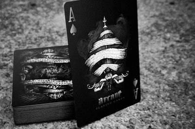 Ellusionist Black Arcane Deck Black/White Magic Cards Playing Card Poker Magic Trick For Professional Magic - Mirage Novelty World