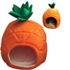 Creative Foldable Dog Cat house Kennel Nest Fruit Banana Strawberry Pineapple watermelon cotton bed - Mirage Novelty World