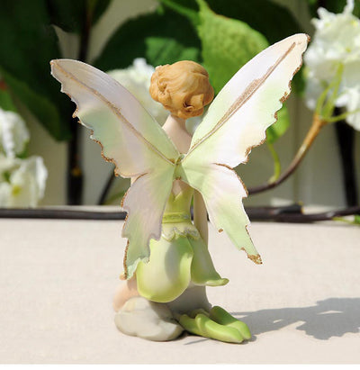 Q-glory Beautiful Girl Creative Gifts Resin Angel Ornaments Home Decor Miniature Flower Fairy Figurines Wedding decoration - Mirage Novelty World