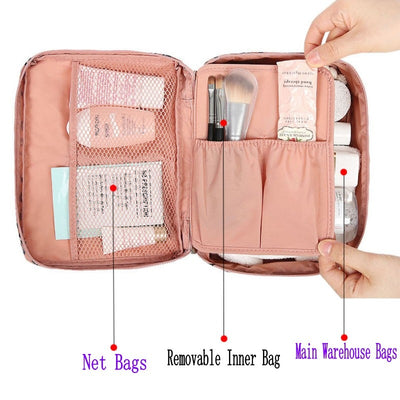 Women Makeup bag nylon Cosmetic bag beauty Case Make Up Organizer Toiletry bag kits Storage Travel Wash pouch - Mirage Novelty World