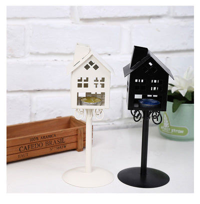 High Quality 2 Colors Standing Design Metal Vintage kiosk House Candlestick Wedding Home Decor Candle Holder - Mirage Novelty World