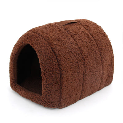 Lovely Pet House With a Bow Dog Kennel Puppy and Cat Beds Arched Shap - Mirage Novelty World
