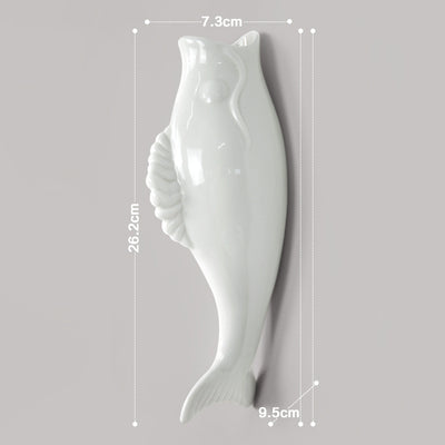 Simple modern creative mural wall vase restaurant home decoration accessories Fish shaped vase Arts and Crafts - Mirage Novelty World