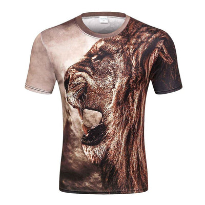 Mens 3d T-shirt Print Winter Forest Trees - Mirage Novelty World