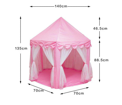 Little J Girl Princess Pink Castle Tents Portable Folding Playhouse - Mirage Novelty World