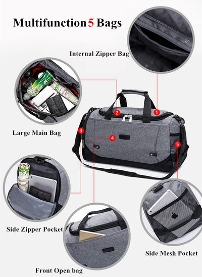 Scione Nylon Travel Bag Large Capacity Men Hand Luggage Travel Duffle Bags Nylon Weekend Bags Women Multifunctional Travel Bags - Mirage Novelty World
