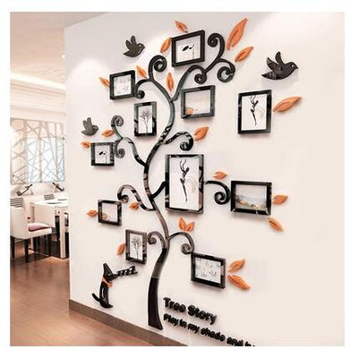 Acrylic Photo Frames wall Family Tree Stickers 3d Three-dimensional Wall sticker home dercor - Mirage Novelty World