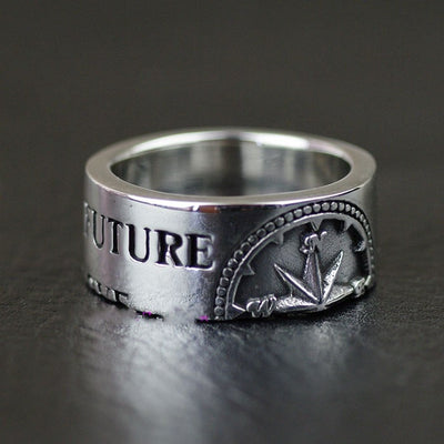 Thailand imported compass 925 Sterling Silver Ring - Mirage Novelty World