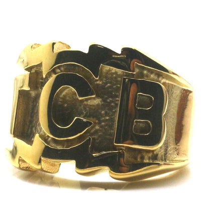 Mens Boys 316L Stainless Steel TCB Biker Ring - Mirage Novelty World