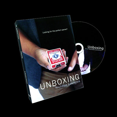 Unboxing By Nicholas Lawrence & SansMinds (DVD+Gimmick) - Card Magic Tricks - Mirage Novelty World