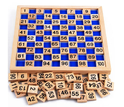 Montessori Education Wooden Toys 1-100 Digit Cognitive Math Toy Teaching Logarithm Version Kid Early Learning  Gift - Mirage Novelty World