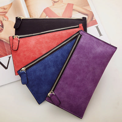 Women's Purse Ladies Wallet Long Money Bags Simple Style Purse Leather Thin Wallets - Mirage Novelty World
