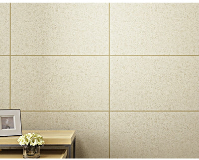 White, Grey,Beige Embossed  Faux Natural 3D Stone wallpaper brick Large Tile Lattice Wall Paper Rolls - Mirage Novelty World