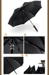 Black Glue Windproof Japanese Ninja-like Samurai Sword Umbrella Three Fold Handle - Mirage Novelty World