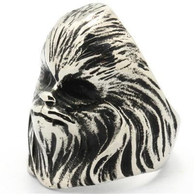 Mens 316L Stainless Steel Punk Gothic Cool Star Wars Ring Newest Design - Mirage Novelty World