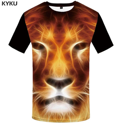 3d Robot Tiger Animal T-shirt Punk Mens Clothing - Mirage Novelty World