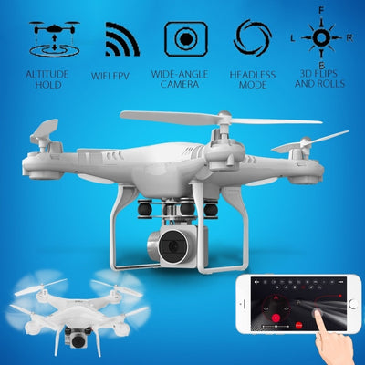 Drone 4 Channel 2.4GHz 2MP HD camera LED Lighting 6-Axis Gyro 360degree Rolling Quadcopter APP Set Height Remote UAV - Mirage Novelty World