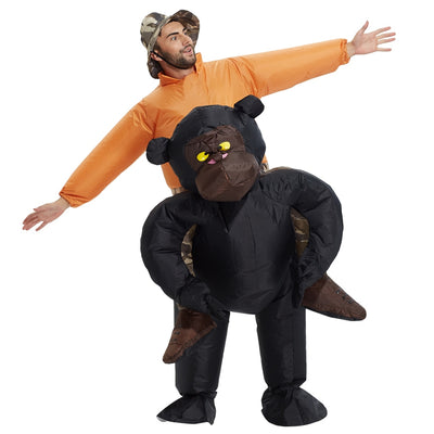 Gorilla Suit Cosplay Party Inflatable Gorilla for man dark ILLUSION - Mirage Novelty World