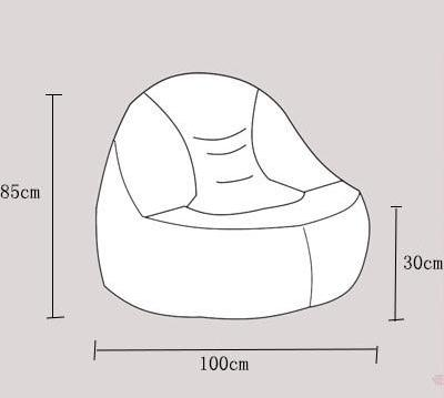 Superb Beanbag Sofa Lounger Bean Bags Chair Living Roon Sitzac Just Beanbag Cover Without The Filling Pabps2019 Chair Design Images Pabps2019Com