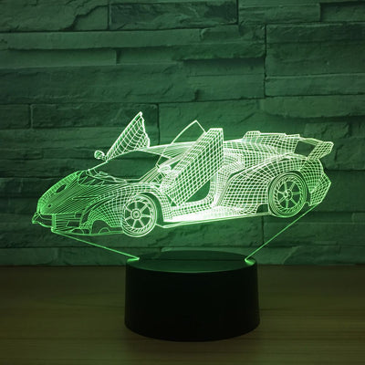 Cool Super Car Acrylic 3D Lamp - Mirage Novelty World