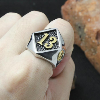 Cool 316L Stainless Steel Biker 13 Skull Ring Mens Fashion Motorcycle Biker Band Party Ring - Mirage Novelty World